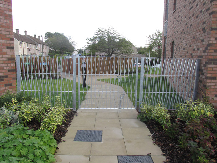 Wrought Iron Domestic Gates In The Scottish Borders